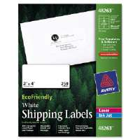 EcoFriendly Labels, 2 x 4, White, 250/Pack