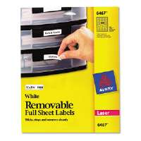 Removable Inkjet/Laser ID Labels, 1/2 x 1-3/4, White, 2000/Pack