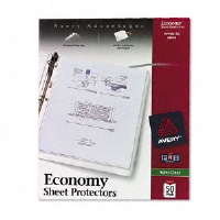 Avery Dennison Top-Load Poly Sheet Protectors, Economy Gauge, Letter, Semi-Clear, 50/Box (74098)