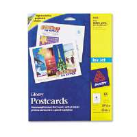 Inkjet Glossy Photo-Quality Postcards, 4-1/4 x 5-1/2, Four per Sheet, 100/Pack