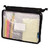 Expanding Zipper Pouch, 8-1/2 x 11, Clear/Black