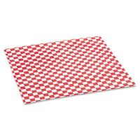 Grease-Resistant Paper Wrap/Liners, 12 x 12, Red Check