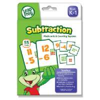 LeapFrog Flash Cards, Subtraction, 4 3/4 x 6, 80 Cards