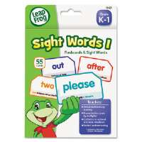 LeapFrog Flash Cards, Sight Words 1, 4 3/4 x 6, 55 Cards