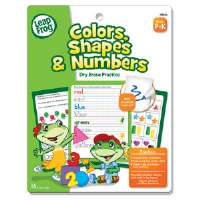 SmartDudes LeapFrog Activity Book, Colors/Shapes/Numbers, Dry Erase, 16 Pages