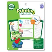 SmartDudes Leap Frog Activity Book, Printing Practice, Dry Erase, 16 Pages