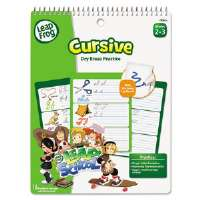 SmartDudes LeapFrog Activity Book, Cursive, Dry Erase, 16 Pages
