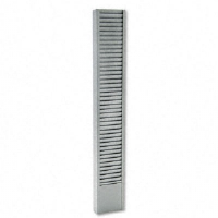 40-Pocket Badge Holder Rack, Vertical, Recycled Steel, Platinum