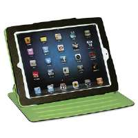 Faux Leather Swivel iPad2 Case, Brown, Green Felt Interior
