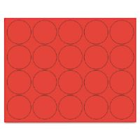 "Interchangeable Magnetic Characters, Circles, Red, 3/4"" Dia., 20/Pack"