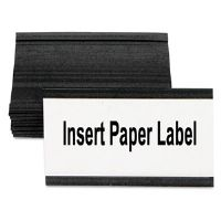 Magnetic Card Holders, 3&quot;w x 1-3/4&quot;h, Black, 10/Pack