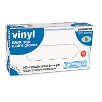Disposable General-Purpose Gloves, Powdered, Clear, Small, 100/Box