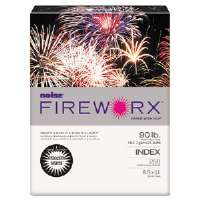 FIREWORX Colored Cover Stock, 90 lbs., 8-1/2 x 11, White, 250 Sheets