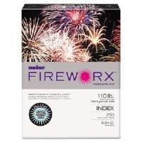 FIREWORX Colored Cover Stock, 110 lbs., 8-1/2 x 11, Light Blue, 250 Sheets/Pk