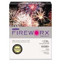 FIREWORX Colored Cover Stock, 110 lbs., 8-1/2 x 11, Canary, 250 Sheets/Pk