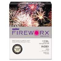 FIREWORX Colored Cover Stock, 110 lbs., 8-1/2 x 11, Ivory, 250 Sheets/Pk