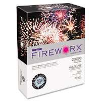 FIREWORX Colored Paper, 20lb, 8-1/2 x 11, Bottle Rocket Blue, 500 Sheets/Ream
