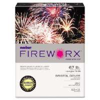 FIREWORX Colored Cover Stock, 67 lbs., 8-1/2 x 11, Canary, 250 Sheets/Pk