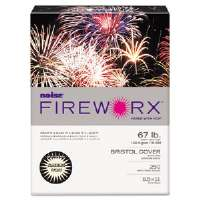 FIREWORX Colored Cover Stock, 67 lbs., 8-1/2 x 11, Ivory, 250 Sheets/Pk