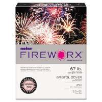 FIREWORX Colored Cover Stock, 67 lbs., 8-1/2 x 11, Light Pink, 250 Sheets/Pk