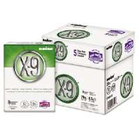 X-9 Copy Paper, 92 Brightness, 20lb, 8-1/2 x11, White, 2500 Sheets/Carton