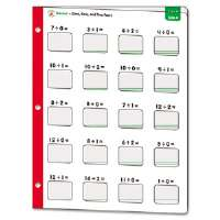Math Windows, Division, Five Write-On/Wipe-Away Cards per Pack
