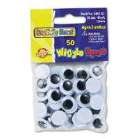 Round Black Wiggle Eyes, 15mm, Black, 50/Pack