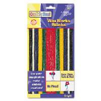 Wax Works Strips, Bright Hues Colors, 48 Pieces