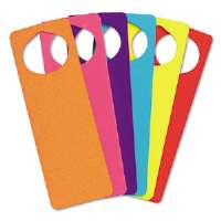 WonderFoam Door Knob Hangers, Six Assorted Colors