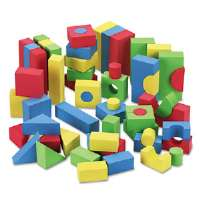 WonderFoam Blocks, Assorted Colors, 68/Pack