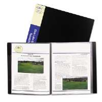 Bound Sheet Protector Presentation Book, 24 Sleeves, 11 x 8-1/2, Black
