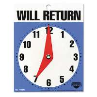 Will Return Later Sign, 5&quot; x 6&quot;, Blue