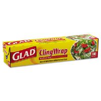 "Plastic Cling Wrap, 12"" x 300ft, Clear"