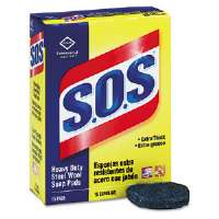 Steel Wool Soap Pad, 15 Pads/Box