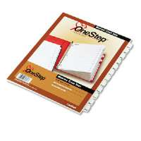 Traditional OneStep Index System, 12-Tab, Months, Letter, White, 12/Set-60313