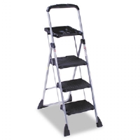 MaxTM Work Platform Project Ladder, 225lb Duty Rating, 22wx31dx55h, Steel, Black