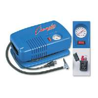 Electric Inflating Pump w/Gauge, Hose & Needle, 1/4 HP Compressor