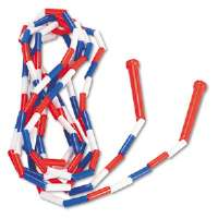 Segmented Plastic Jump Rope, 16-ft., Red/Blue/White