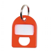 Replacement Key Tags, 3/4 x 1, Plastic, Red, 8/Pack