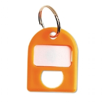 Replacement Key Tags, 3/4 x 1, Plastic, Yellow, 8/Pack