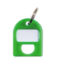 Replacement Key Tags, 3/4 x 1, Plastic, Green, 8/Pack