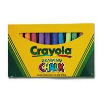 Colored Drawing Chalk, Assorted Colors 12 Sticks/Set