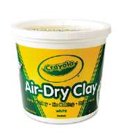 Air-Dry Clay, White, 5 lbs