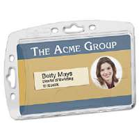 Badge Holder, Vertical/Horizontal, Polystyrene, 10/Pack