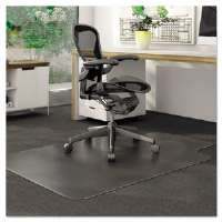 DuraMat Chair Mat For Low Pile Carpet, Rectangle, Vinyl, 36 x 48, Clear