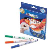 Prang Washable Markers, Fine Point, 12 Assorted Colors, 12/Set