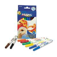Prang Washable Markers, Fine Point, 8 Assorted Colors, 8/Set