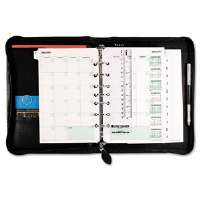 Bonded Leather Organizer Starter Set, 5-1/2 x 8-1/2, Black