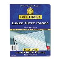 Day-Timer� Lined Note Pads for Organizer
