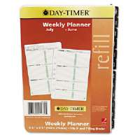 Two-Page-per-Week Academic Organizer Refill, July-June, 5-1/2 x 8-1/2, 2013-2014